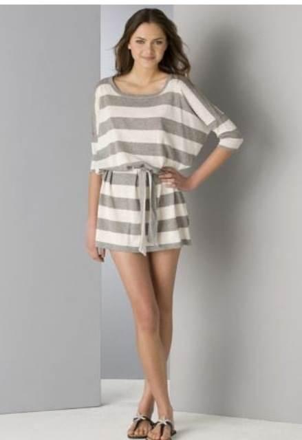 vestidos juveniles con rayas