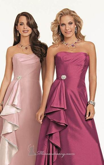vestidos largos para damas de honor
