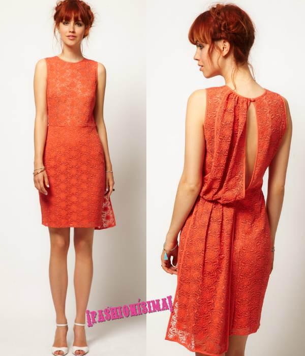 Vestidos de gasa color naranja
