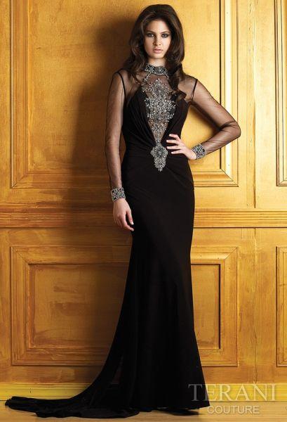 Espectaculares vestidos de fiesta color negro