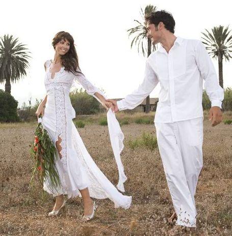 vestidos de boda en la playa