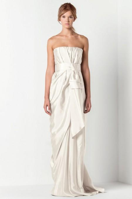 Vestidos simples para novias 2013
