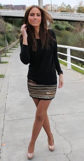 Mini falda con medias - 3 1