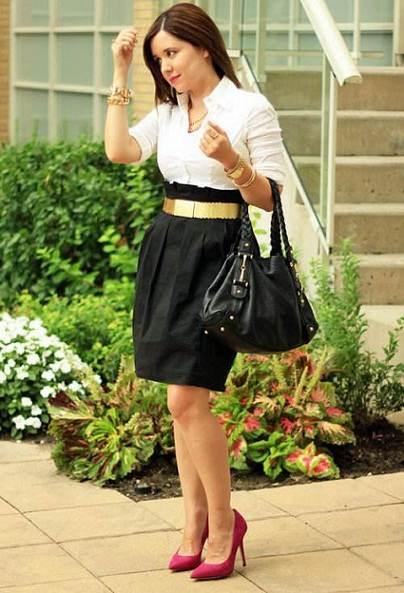 Modelos de faldas para ir a trabajar en la oficina