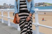Vestidos y blusas a rayas, moda verano 2013