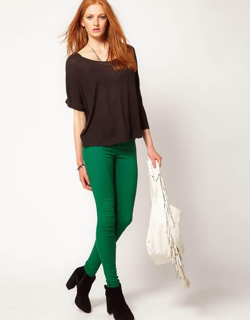 Pantalones y faldas color verde, lindas opciones | AquiModa.com