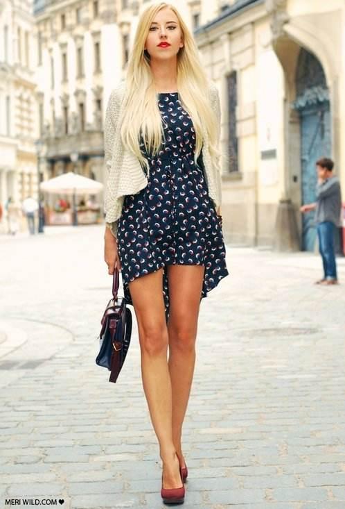 Preciosas durante el día, vestidos de moda para cada día