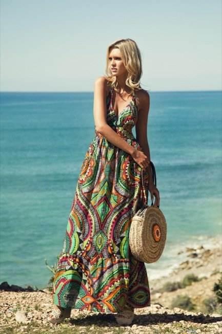 Vestidos largos para ir a la playa