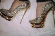 Zapatos lujosos de tacón alto, moda 2013