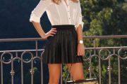 Faldas negras de moda 2013 como combinarlas