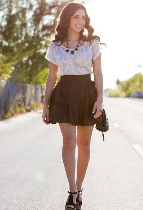 f29b24f11 Looks con faldas cortas, moda 2013 | AquiModa.com