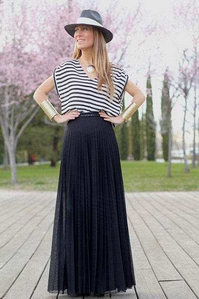 Moda de faldas largas 2013