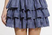 Modelos de faldas cortas con volantes