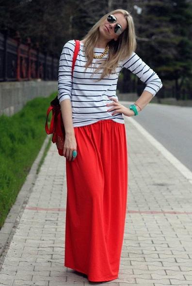 Hermosas faldas largas para el diario