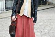 Looks de invierno con maxi faldas