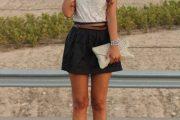 Looks con faldas cortas, moda 2013
