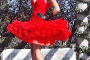 Vestidos rojos para fiestas de bodas