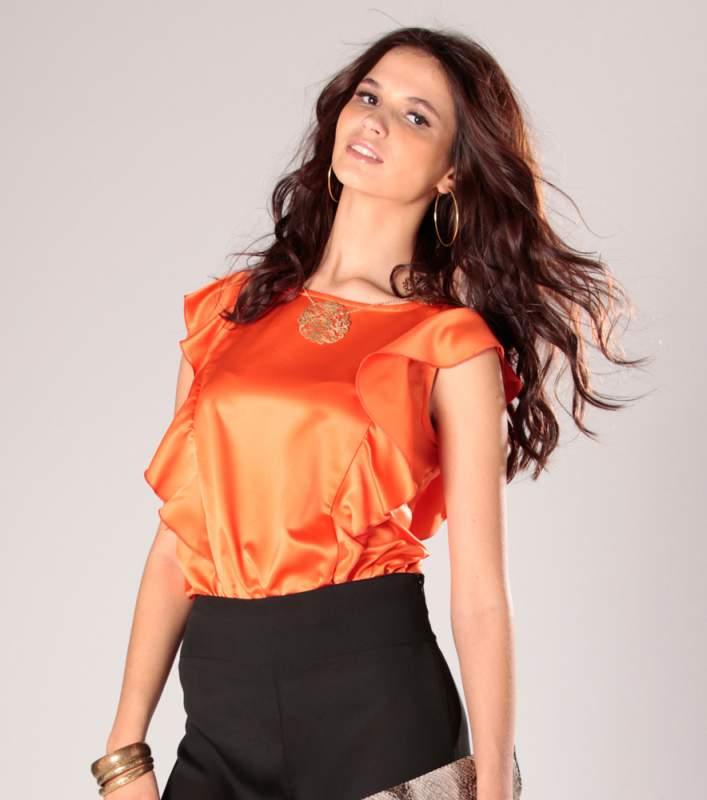 Modelos de blusas de saten