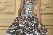 Modelos de vestidos brillantes de 15 años