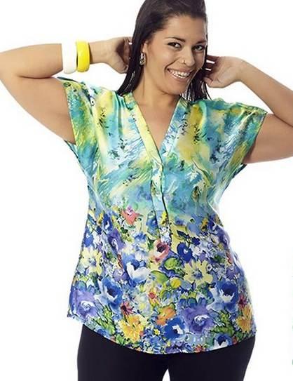 Blusas estampadas para gorditas 2013