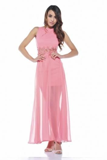 Vestidos elegantes color rosa palo | AquiModa.com