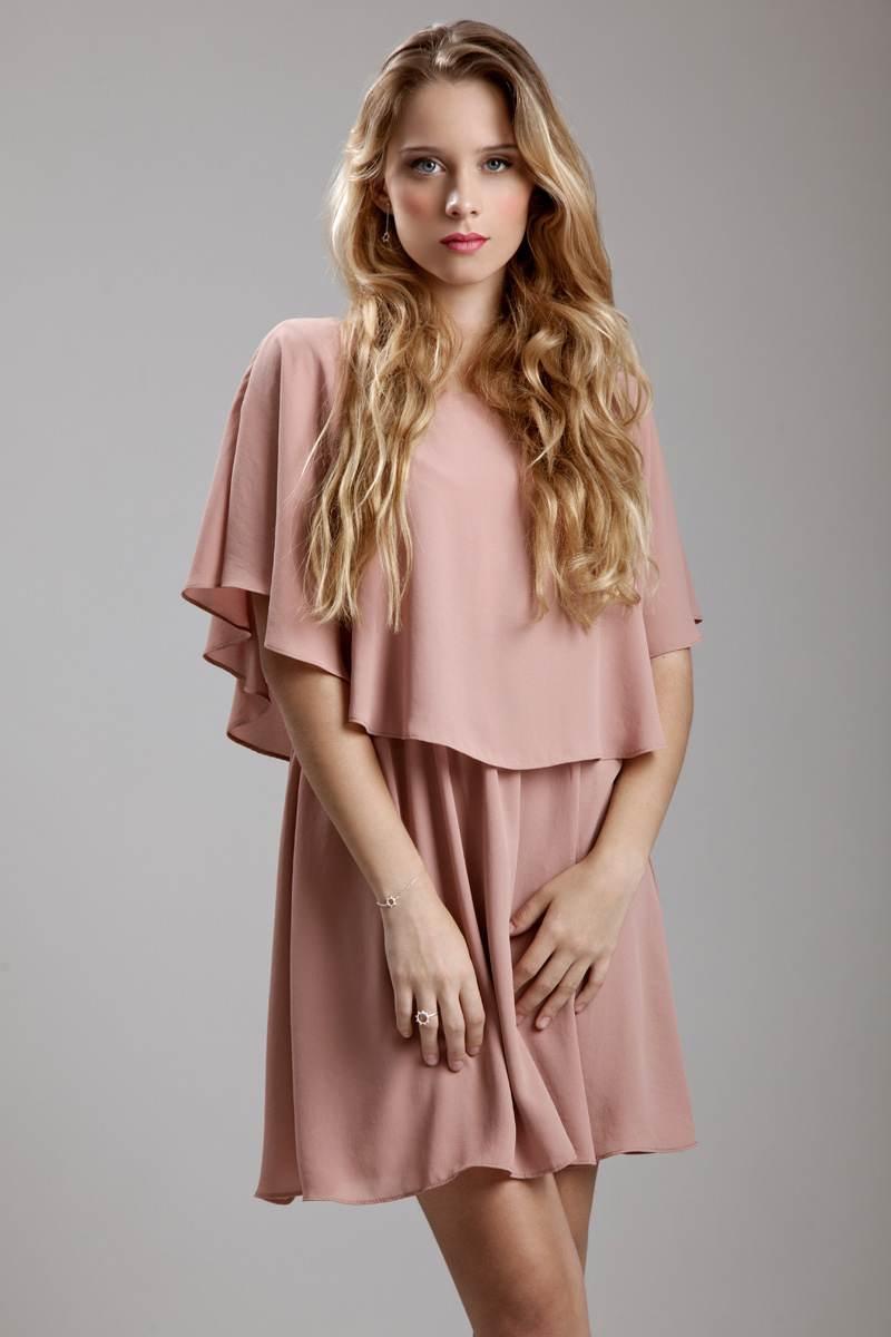 Vestidos elegantes color rosa palo