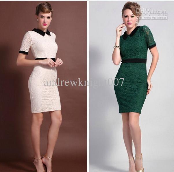 Modelos de vestidos de mangas cortas