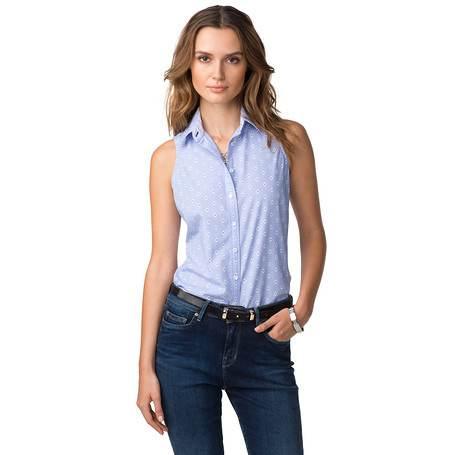 Blusas elegantes manga cero
