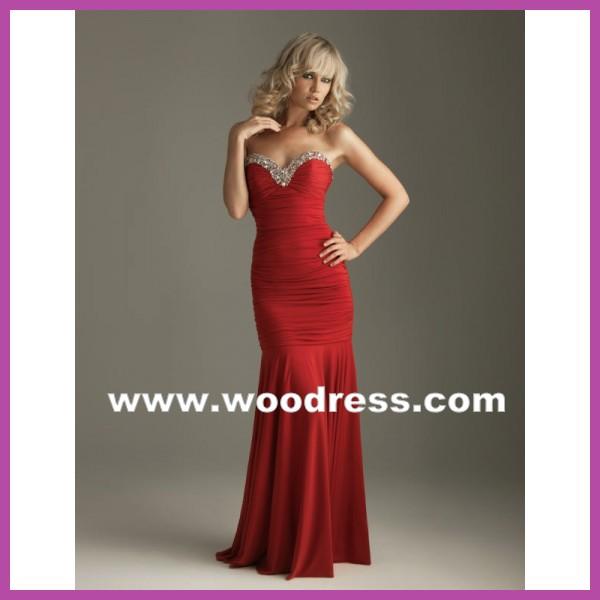 Tags vestidos atractivos de color rojo, vestidos con plisados, vestidos con tirantes, vestidos de gasa, vestidos manga larga, vestidos modernos de fiesta,