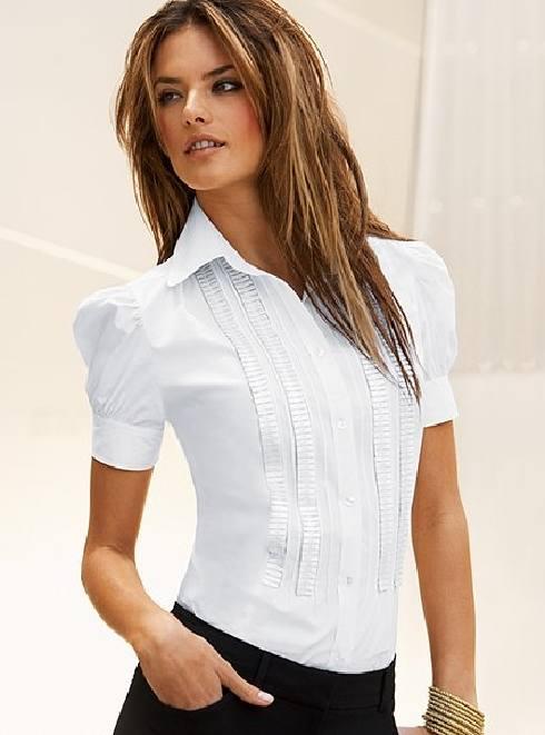 Nueva primavera 2015 nueva manga larga camisa blanca