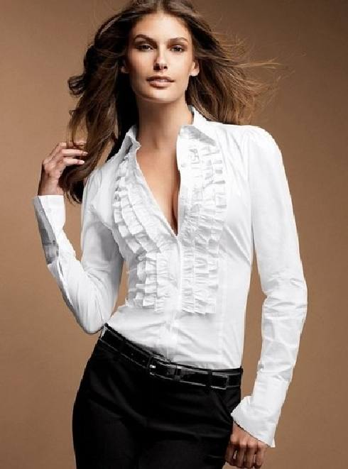 Versatilidad de la Moda en Blusas Blancas | Moda, vestidos de boda ...
