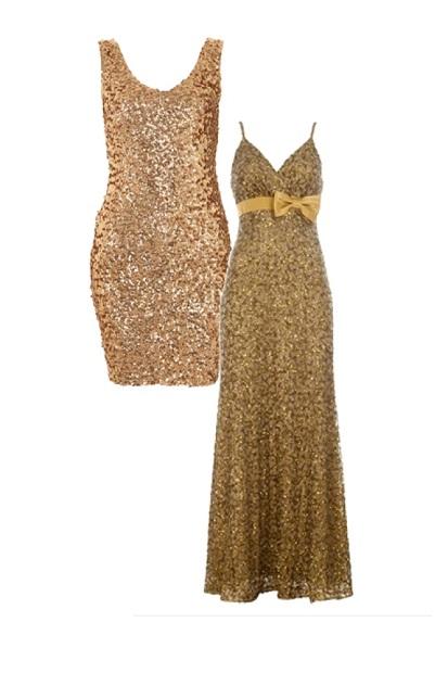 Modelos de vestidos cortos y largos de fiesta 2013