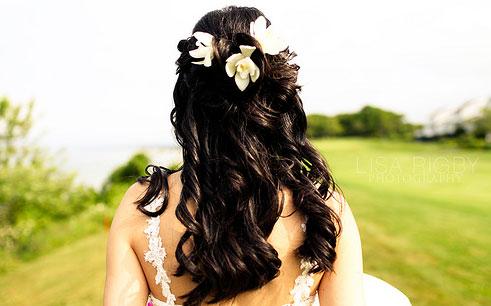 Peinados con extensiones para novias
