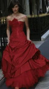 Vestidos de colores para novias 2013
