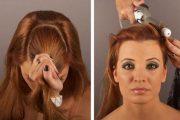 Peinados recogidos con tupé, moda 2013