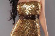 Vestidos glitter lo último de esta tendencia