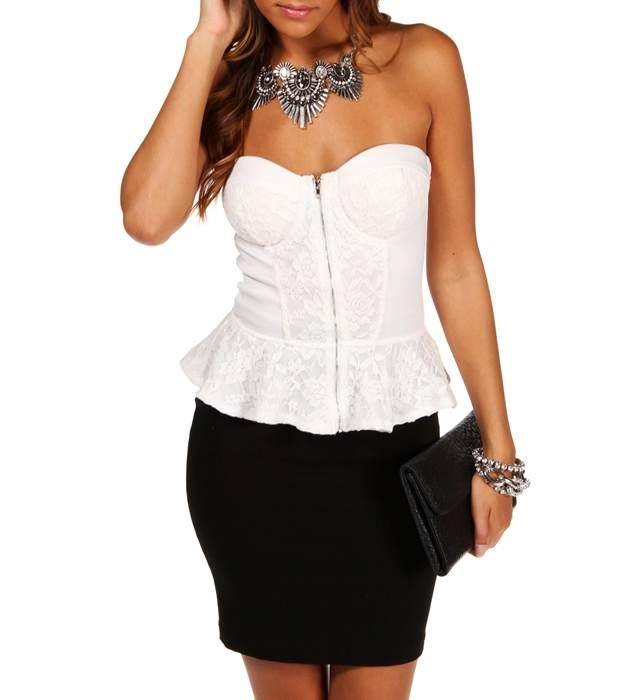 Modelos de blusas peplum, un estilo que no pasará de moda