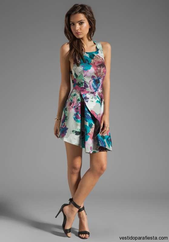 Vestidos Cortos Floreados Para El Día Moda 2013 Aquimodacom