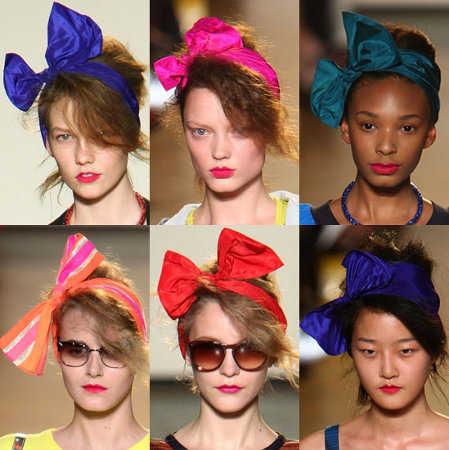 Lazos para el cabello: luce un look chic como las celebrities ...