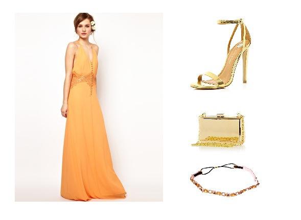 Vestidos color naranja para invitadas a la boda