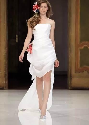 Vestidos cortos para una novia glamorosa