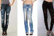 Jeans rasgados:Un look más sexy y desenfadado