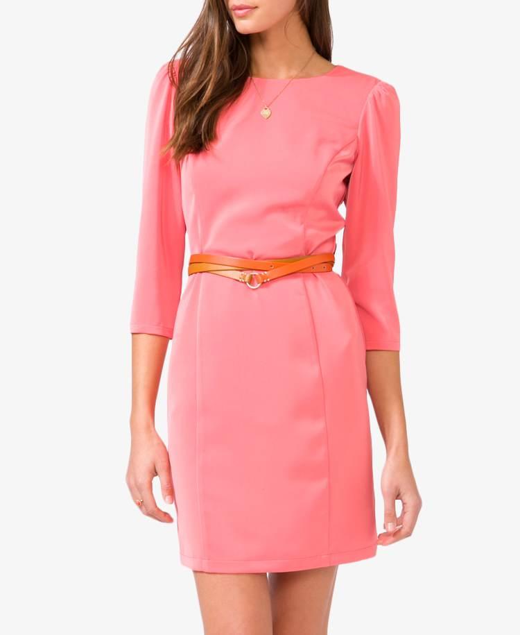 Vestidos de moda color coral