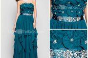 Modelos de vestidos largos con transparencias recatadas