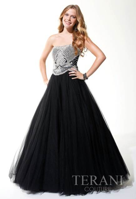 Vestidos de quince color negro