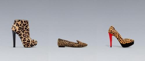 zapatos con manchas leopardo