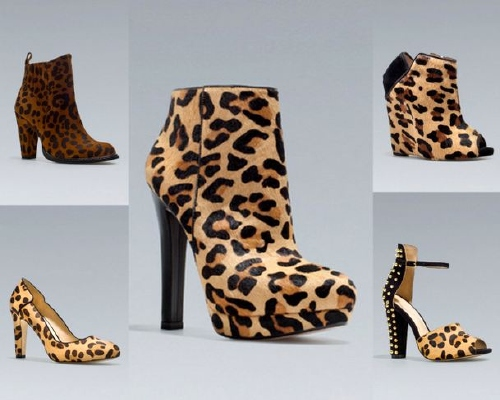 Zapatos con manchas de leopardo temporada otoño