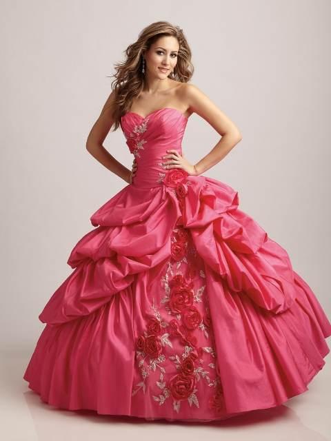 Vestidos fucsia para quinceañeras 2013