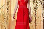Vestidos largos de color rojo: Modelos atractivos 2013