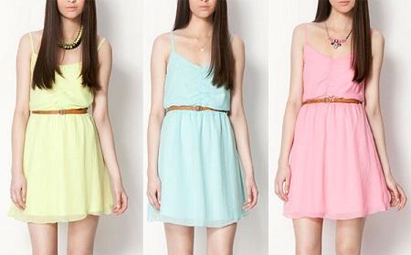 Vestidos cortos veraniegos en tonos pasteles